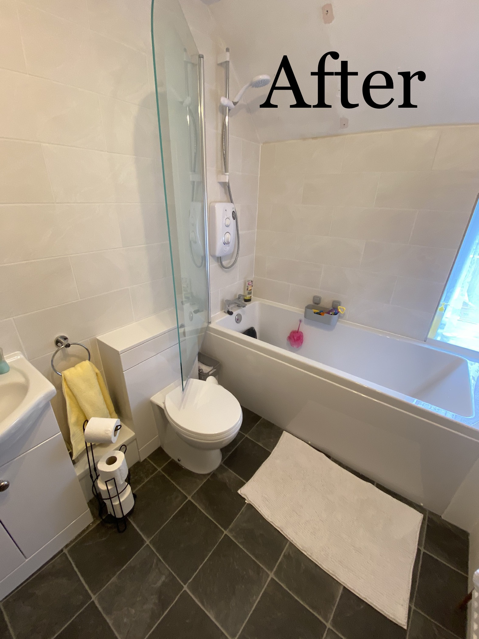 free bathroom after picture